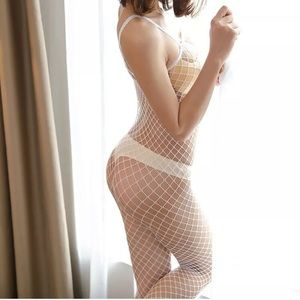 Other - New White super sexy fishnet body suit.